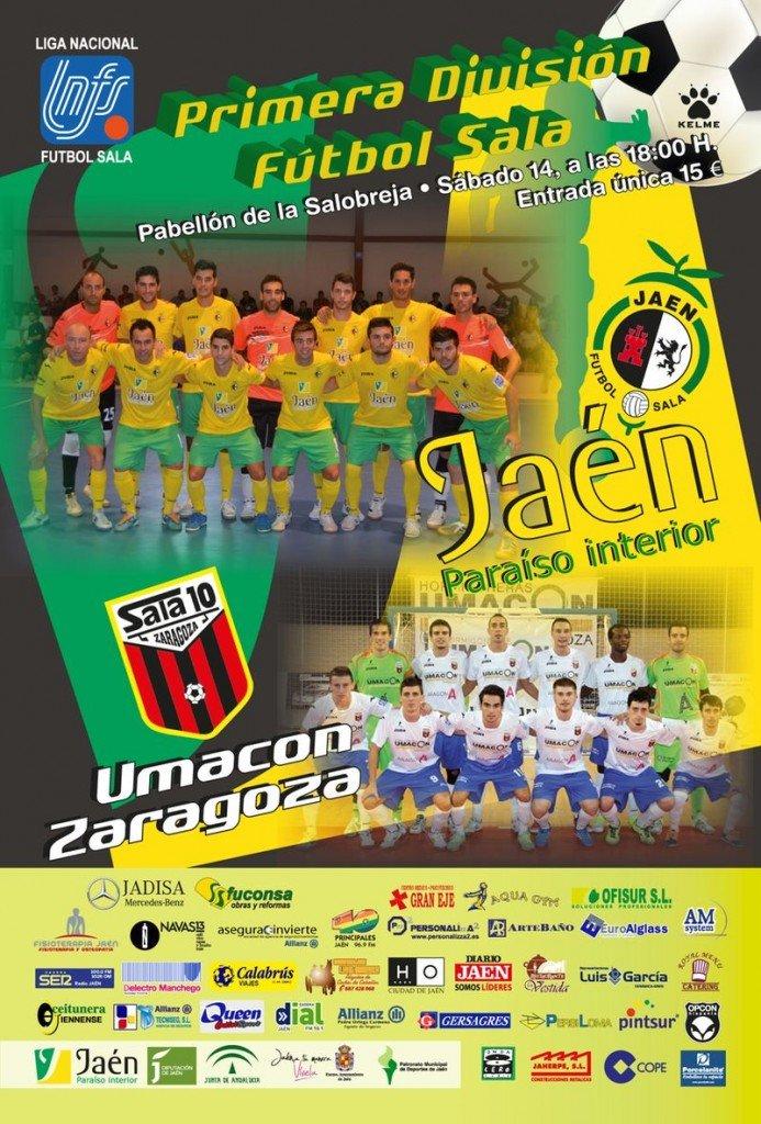Cartel Jaen FS - Zaragoza